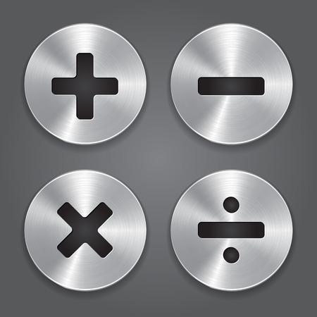 Metal Icons Math Symbols