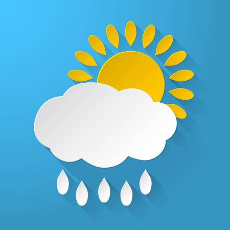 raining background: Sun with Clouds raining background