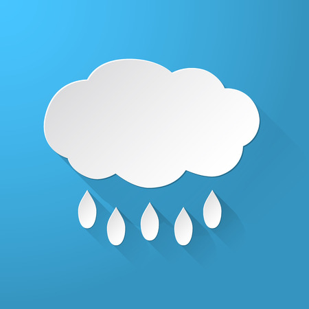 Clouds with rain background Vector