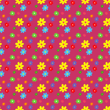 Seamless pattern with flowers  Vector Illustration