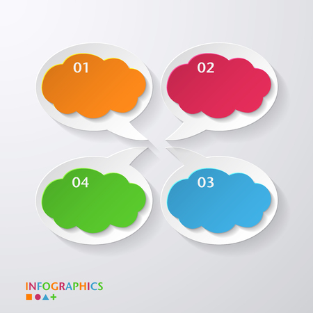 Speech bubble  infographics template  numbered banners  graphic or website layout vector Vector
