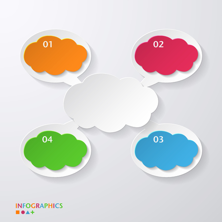 Speech bubble / infographics template / numbered banners / graphic or website layout vector Vector