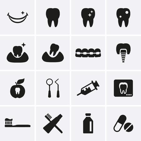 toothbrush: Dental Icons  Vector Illustration
