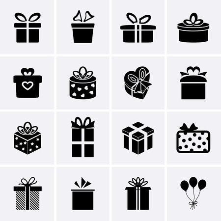 gift bags: Gift Icons Illustration