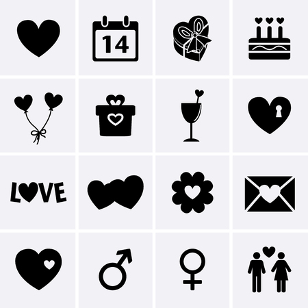 Valentines Day Icons  Vector Vector