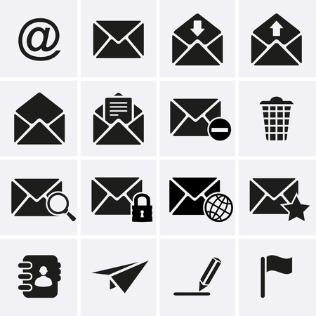 contact book: Envelope, E-mail Icons  Vector