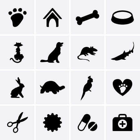 Veterinary Pet Icons  Vector Vector