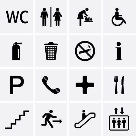 servicios publicos: Iconos Públicos Vector Vectores