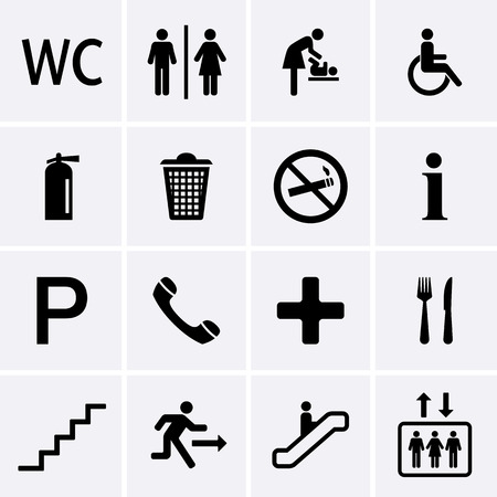 Icons pubblici Vector