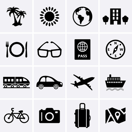 Travel and Vacation Icons  Vector Vector