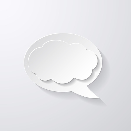 Vector Speech Bubble with Clouds background Vector