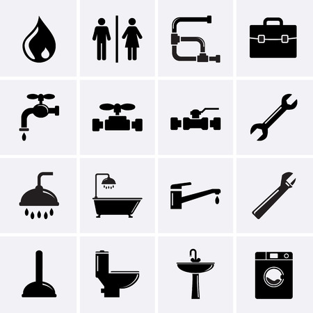 bathroom faucet: Plumbing Icons