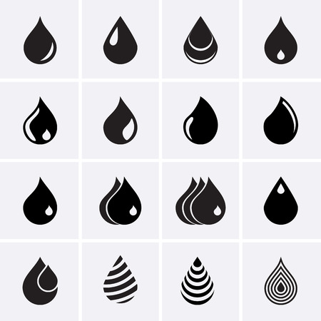 gas icon: Drop Icons Illustration