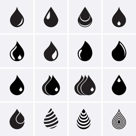 Drop Icons Stock Illustratie