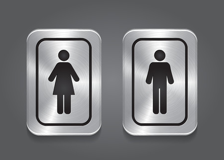 Icon Toilet, Man   Woman Vector