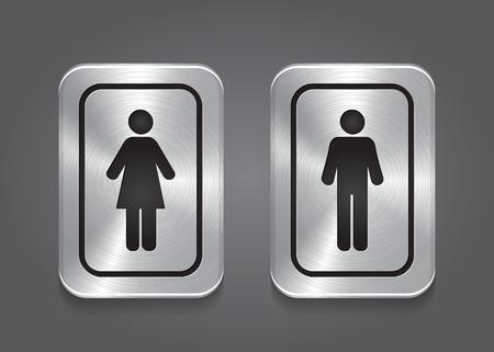 Icon Toilet, Man   Woman Vector