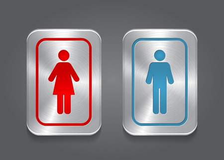 Icon Toilet, Man   Woman, Vector Vector
