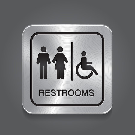 toilet sign: Restrooms Sign  Illustration