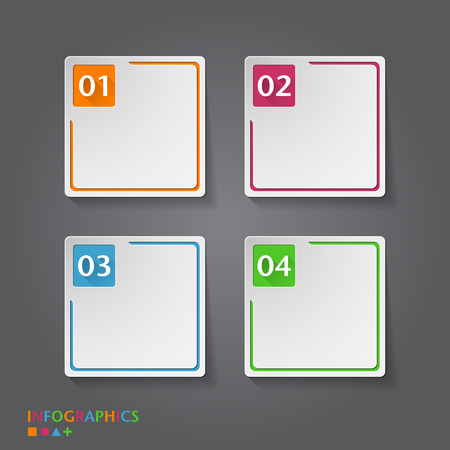three pointer: Number Banners Template. Graphic or website layout