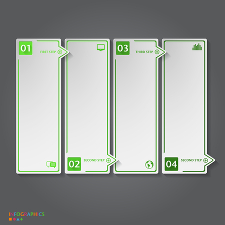 Number Banners Template  Graphic or website layout Vector
