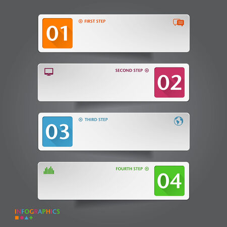 Number Banners Template. Graphic or website layout. Vector Vector