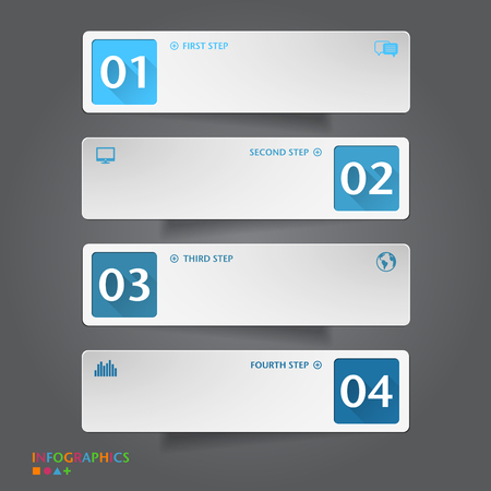 Number Banners Template. Graphic or website layout. Vector Stock Illustratie