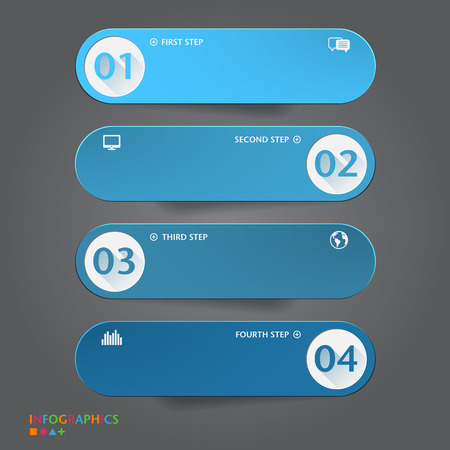 Number Banners Template. Graphic or website layout. Vector Vectores