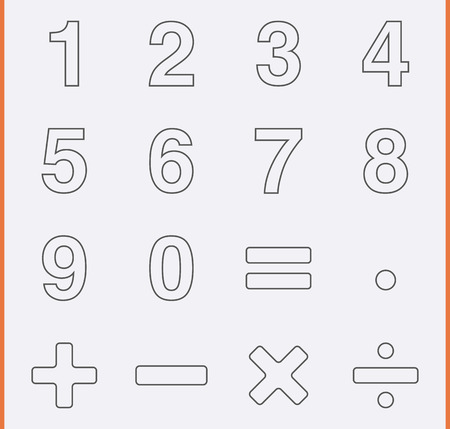 sums: Numbers and Mathematical Icons
