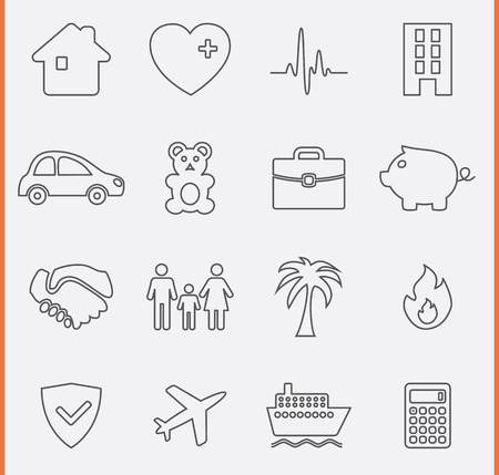 Insurance Icons Vector