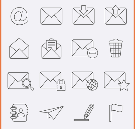 Envelope, E-mail Icons Vector