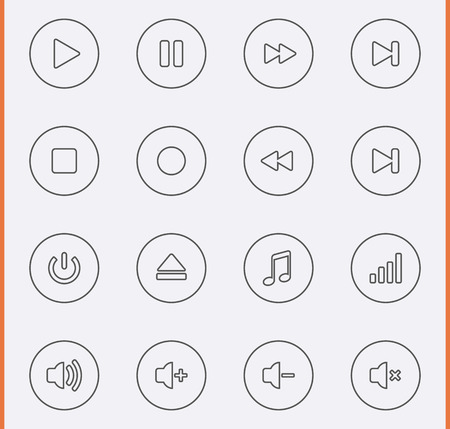 Media Player Icons Illustration