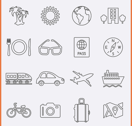 train ticket: Travel and Vacation Icons