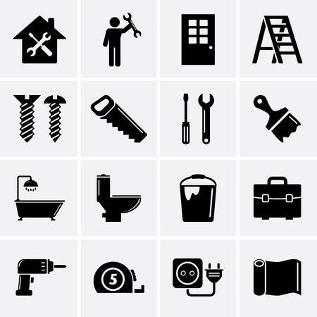 BHome réparation et outils icônes Banque d'images - 29138266