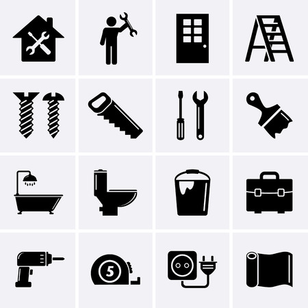 BHome repair and tools icons photo