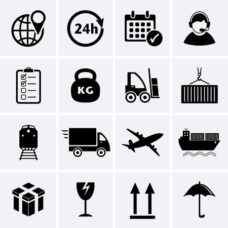 Logistics and Shipping icon   Vector