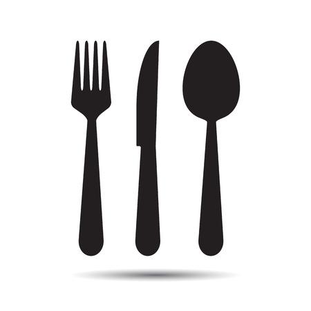 Couteau, fourchette et cuillère Banque d'images - 29373867