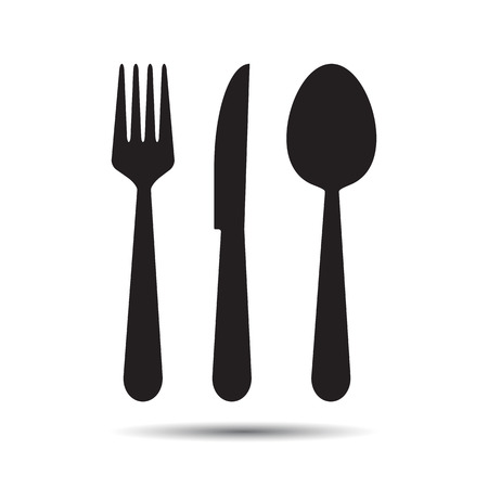 spoon: Knife, Fork and Spoon   Illustration