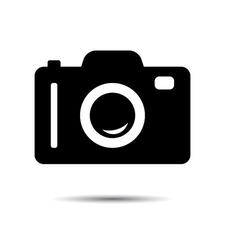 Foto of Camera Icon. Stock Illustratie