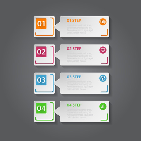 Abstract 3D digital Infographic. Vector can be used for infographics, number options, workflow, diagram or website layout. Vector
