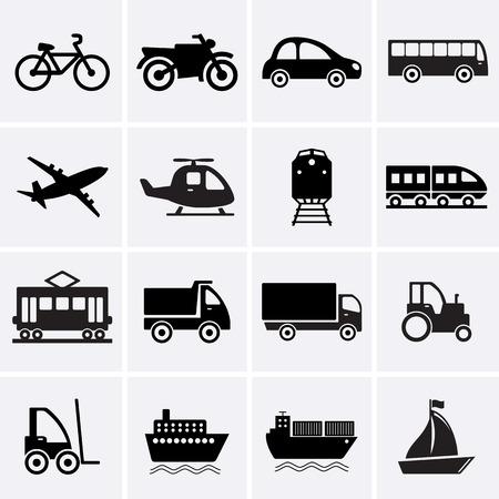 transport: Ikony transportu. Wektor