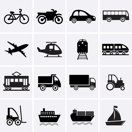 public transport: Transport Icons. Vector