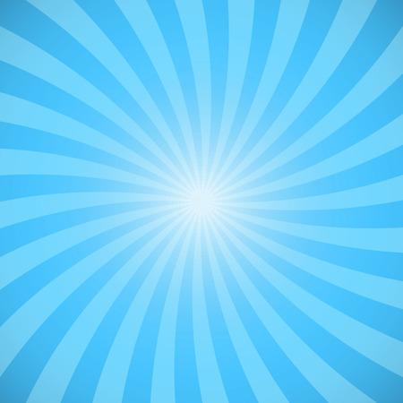 Blue color burst background. Vector illustration Stock Illustratie
