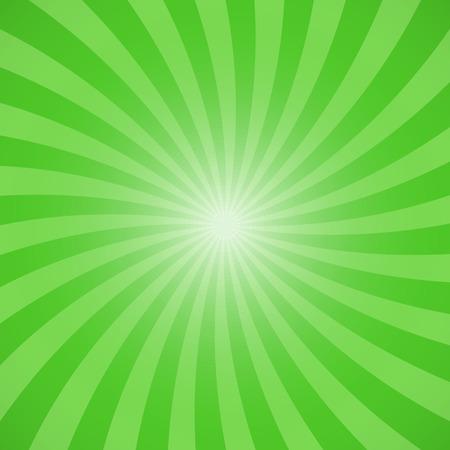 Green color burst background. Vector illustration