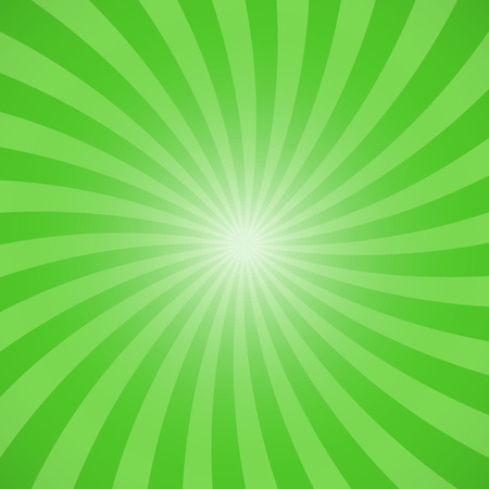 Green color burst background. Vector illustration