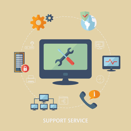 Computer support icons.