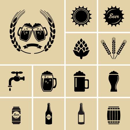Bier-Ikonen für Web Illustration