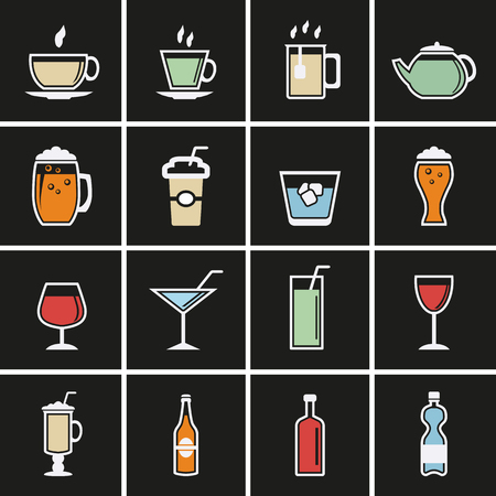 Drink icons for web Vector