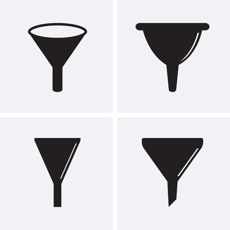 separating funnel: Funnel Icons filter sign.