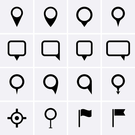 Map pointer icons set.