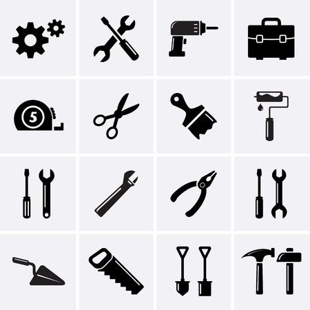 Gereedschappen iconen. Stockfoto - 32609345